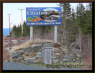 Elliston Root Cellar Sign